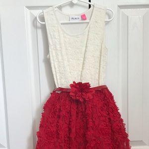 Girls Sleeveless Belted Ruffle Dress